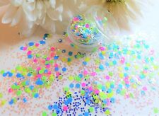 Nail Art Chunky *DisCo* Matte Mixed Neon Hexagon Shapes Glitter Spangle Mix Pot