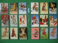 18 Different Elvgren Pinup Girl Art Swap Cards Collection NO ADVERTISING Mint A+