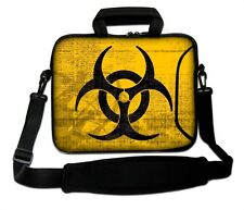 "15""-15.6""LAPTOP SLEEVE WITH HANDLE STRAP CARRY CASE BAG 4 ALL LAPTOPS *BIOHAZARD"