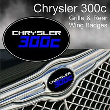 Chrysler 300c Logo Grille & Rear Wing Badge Emblems