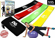 Resistance Loop Bands Set of 4 Home Fitness Exercise Workout & Physical Therapy