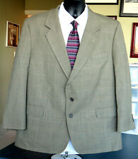 Olive Glen Plaid Mens 100% Wool SUIT Made by VERSINI Size 42 or 44 Short w Cuffs