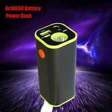 USB Mobile Power Bank 4x18650 Battery Charger Box Case Holder For iPhone Andriod