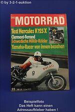 Das Motorrad 11/72 Hercules K125X Militär Kräder