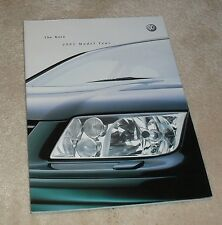 Volkswagen VW Bora Brochure 2001 1.6 2.0 2.3 V5 2.8 V6 4Motion 1.9 TDI SE Sport