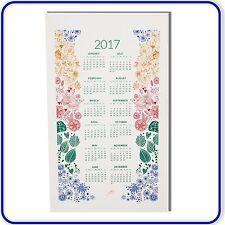 100% algodón toalla de cocina 2017 calendario de calidad superior de regalo de Navidad