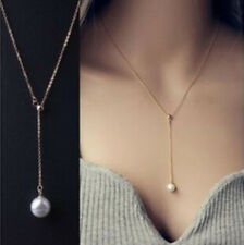1Pc Lady Silver Pearl Choker Chunky Statement Bib Necklace Jewelry Chain Pendant