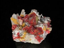 Realgar with Quartz, Galena, Orpiment, Paloma Mine! PERU