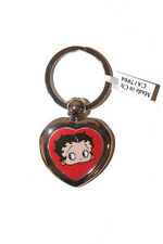 BETTY BOOP LICENSED HEART SHAPE PICTURE  METAL KEYCHAIN .. NEW