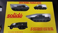 SOLIDO BOX GIFT SET A COFFRET A SERIE LIMITEE 40TH ANNIVERSARY 6 JUIN 1944-1984