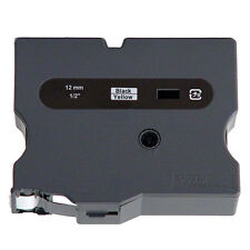 """Brother TX6311 1/2"""" B/Y Ptouch label tape PT4000XL PTPC"""