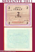 ITALIA ITALY 2 lire 1943 FLC, ALLIED MILITARY CURRENCY, AM LIRE, P M11a FDS UNC