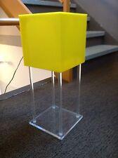 VINTAGE POP MOD TABLE LAMP CUBE LUCITE ACRYLIC LIGHTING RETRO PANTON WARHOL 60'S