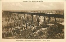 Vintage Postcard Pecos High Bridge on the Sunset Route West Texas TX