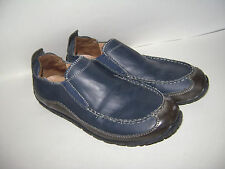 COLE HAAN LUCAS SCHOOL YOUTH BOYS SHOES LOAFERS SLIDE ON size 3 M BLUE