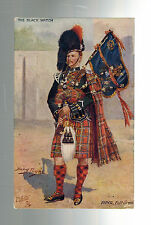 Mint WW 1 England British Army Piper of the Black Watch Tuck's Postcard