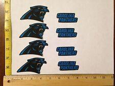 8 Carolina Panthers Fabric Applique Iron On Ons Set 2