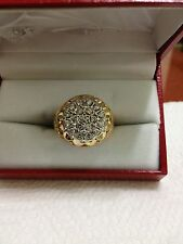MENS 1CT. SI1 G KENTUCKY CLUSTER DIAMOND RING 14K NO RESERVE