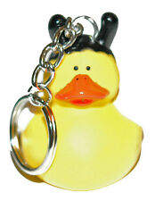 BRIGHT YELLOW & BLACK BEE RUBBER DUCK KEY CHAIN (KC062)