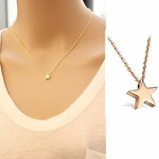 Danity Gold Chain Charm Star Pendant Necklace Choker Jewelry For Girl Women