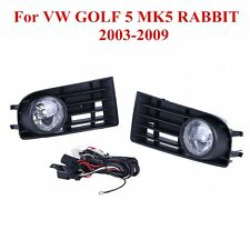1 Pair Fog Light Lamps Grille For VW GOLF 5 MK5 RABBIT 2003-2009