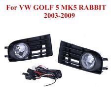 1 Pair Fog Light Lamps Grille For VW GOLF 5 MK5 RABBIT 2003-2009