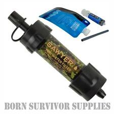 NEW SAWYER MINI WATER FILTER KIT CAMO - Filtration Survival Purification Straw