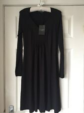 BNWT The White Company Black  Jersey Dress XS Immaculate Size 8