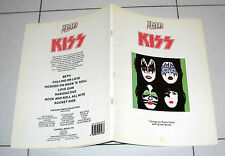 Spartiti Songbook KISS 7 songs for piano vocal IMP 1988 Spartito