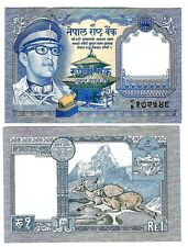 NEPAL 1 RUPEE KING BIRENDRA 1974 SIGN 11 UNC P 22