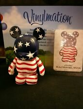 "DISNEY Vinylmation 3"" Park Set 1 Holiday Series USA Flag 4th of July with Card"