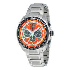 Citizen Orange Dial Mens Chronograph Watch CA4234-51X