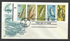 #2209a,  Booklet Pane,  FISH, CATFISH, TUNA, COD...1986 ArtCraft First Day Cover