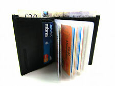 MENUNISEX HIGH QUALITY LUXURY SOFT BLACK LEATHER CREDIT CARD HOLDER WALLET PURSE