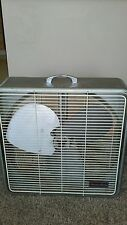 RARE VINTAGE Arctic Aire Solid Metal Box Fan One Speed. Very Powerful