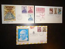VINTAGE VATICAN CITY LOT OF THREE (3) FDC ENVELOPES 1968 AND 1969