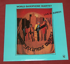 WORLD SAXOPHONE QUARTET LP LIVE IN ZURICH  BLACK SAINT