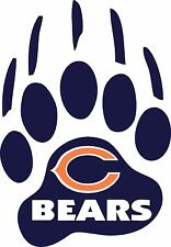 CHICAGO BEARS Paw Logo ~ Window WALL DECAL * Vinyl Car STICKER ~ ANY COLORS