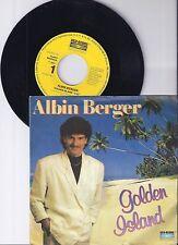 "Albin Berger, Golden Island, VG/VG+ 7"" Single 0980-9"
