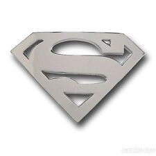Superman DC Comics Super Hero Cutout Metal Belt Buckle - Chrome Finish