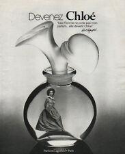 Publicité Advertising  devenez Chloe parfum lagerfeld