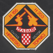 CROATIA ARMY - HV- SQUAD 'CROATIAN GUNNERS' - ZADAR, 1991/92 extemely rare patch
