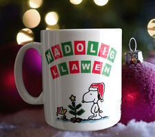 Nadolig Llawen mug - with friends.. snoopy and woodstock