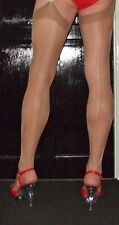 5 Pairs Natural Point/ Cuban heel seamed Stockings Large Size
