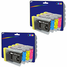 2 Sets of Compatible Printer Ink Cartridges for Brother DCP-135C [LC970]