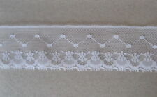 "CRAFT-SEWING-LACE""Special Price"" 20mtrs x 30mm White Netting Design Lace"