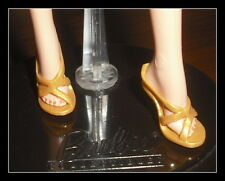 SHOES  BARBIE DOLL 007   MODEL MUSE GOLD STRAPPY SANDALS MATTEL HIGH HEELS