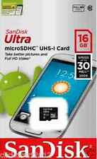 Sandisk Ultra 16GB Micro SDXC UHS-I Class 10 Flash TF Card Memory Card