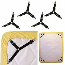 4PCS Triangle Bed Mattress Sheet Clips Grippers Straps Suspender Fastener Holder
