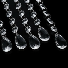 12 Pezzi Acrilico Perlina Di Cristallo Da Parete Filo Per Il Matrimonio